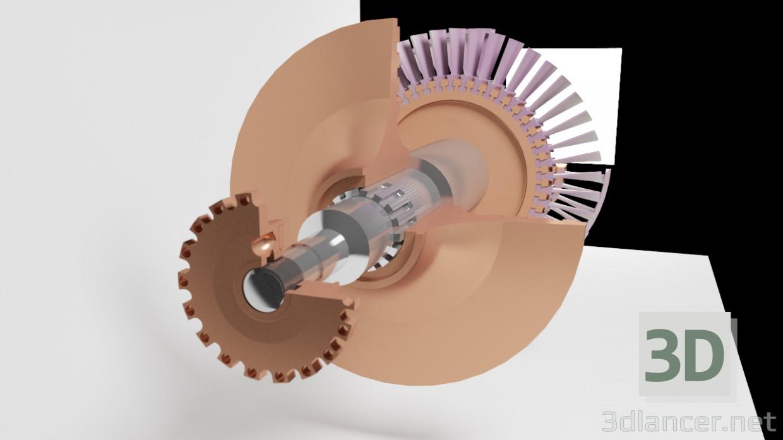 3d Turbocharger model buy - render