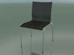 Chair with four legs and extra width, with leather seat upholstery (121)