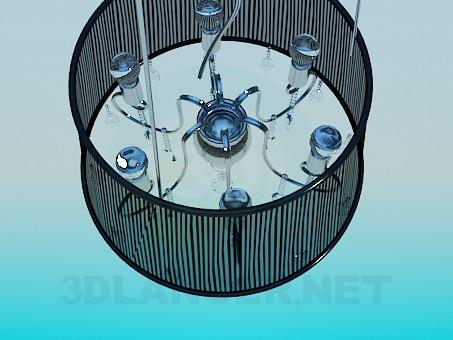 modelo 3D Lámpara con pantalla transparente - escuchar