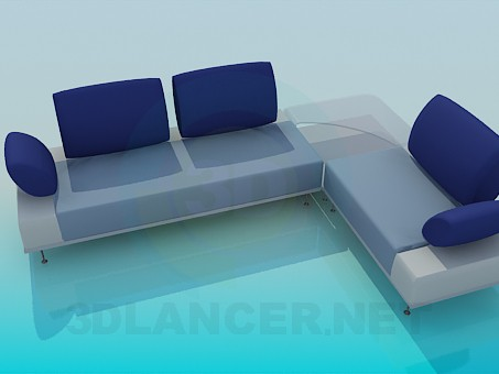 3d modeling Corner sofa model free download