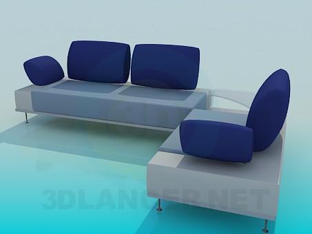 modelo 3D Sofá de la esquina - escuchar