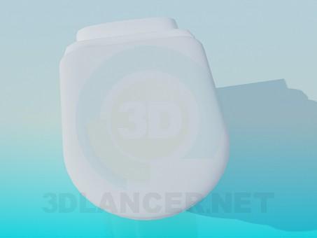 3d модель Підвісний унітаз з кришкою – превью