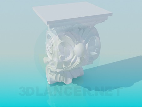 3d model Element of the cornice - preview