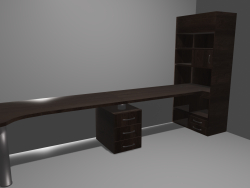 Table with cupboard