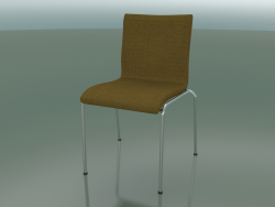 Chair with four legs and extra width, fabric upholstery, padded (121)