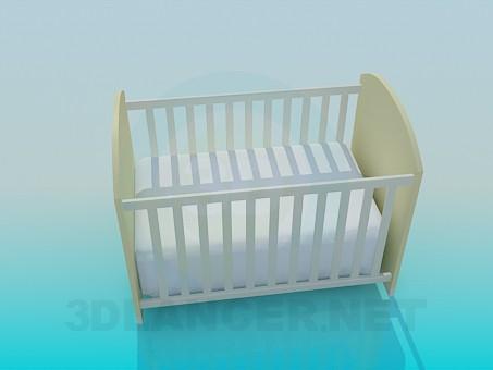 modelo 3D Cama para bebé - escuchar
