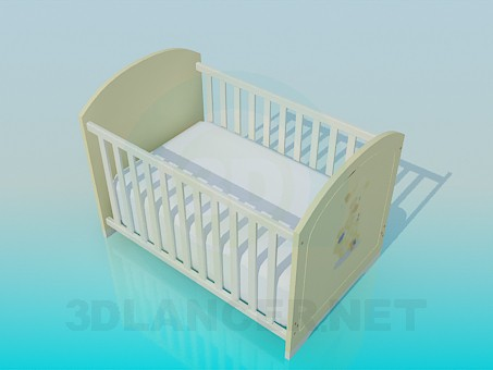 3d model Bed for baby - preview