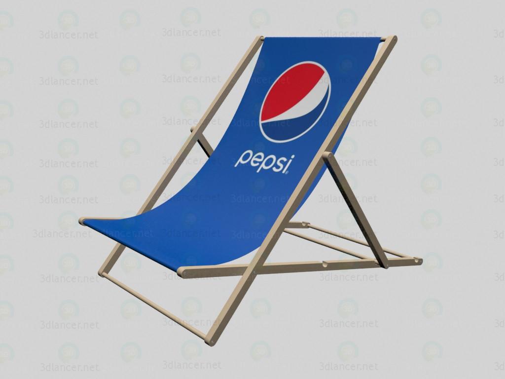 3d Пляжный стул Пепси модель купить - ракурс