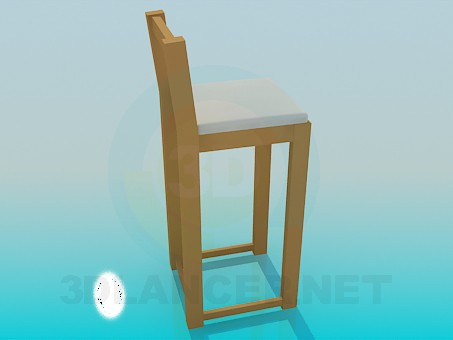 3d model Wooden highchair - preview