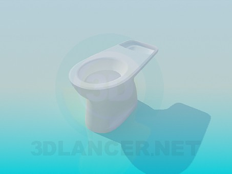 modelo 3D Asiento de inodoro sin tapa - escuchar
