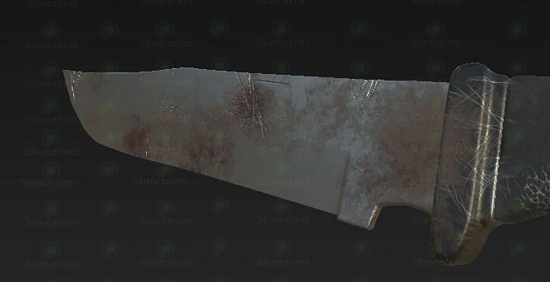3d Нож модель купить - ракурс