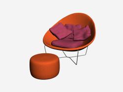 Chaise + pouf Nido