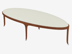 Oval bench with leather upholstery (art. JSB 1510)