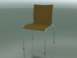 Four-legged chair with extra width, upholstered in fabric (121)