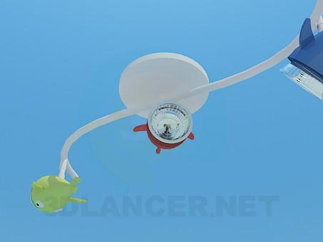 modelo 3D Pescados de la linterna en la sala de juegos - escuchar