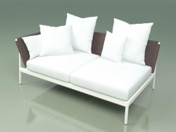 Sofa module right 004 (Metal Milk, Batyline Brown)
