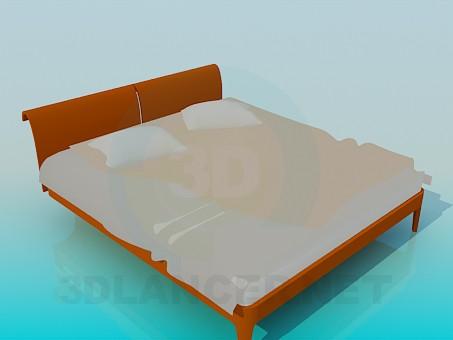 3d модель Двуспальная кровать – превью