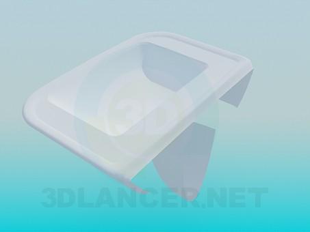 3d модель Мелкий умывальник прикрепленный к стене – превью