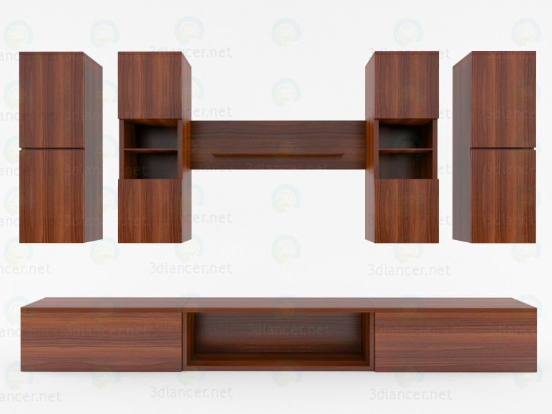 modelo 3D Muebles de TV - escuchar