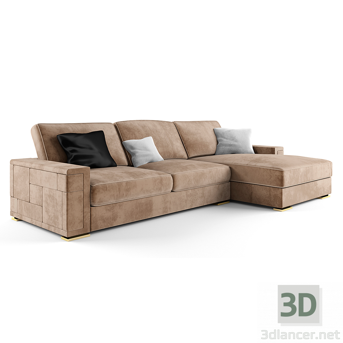 3d Asnaghi Pixel Sofa (Italy) model buy - render