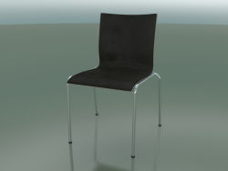 Four-legged chair with extra width, leather interior upholstery (121)