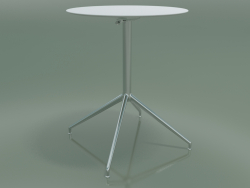 Round table 5743 (H 72.5 - Ø59 cm, unfolded, White, LU1)