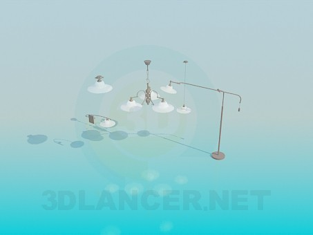 3d modeling A set of lamps model free download