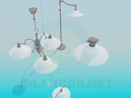 3d model A set of lamps - preview