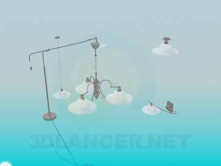 3d модель Набор ламп – превью