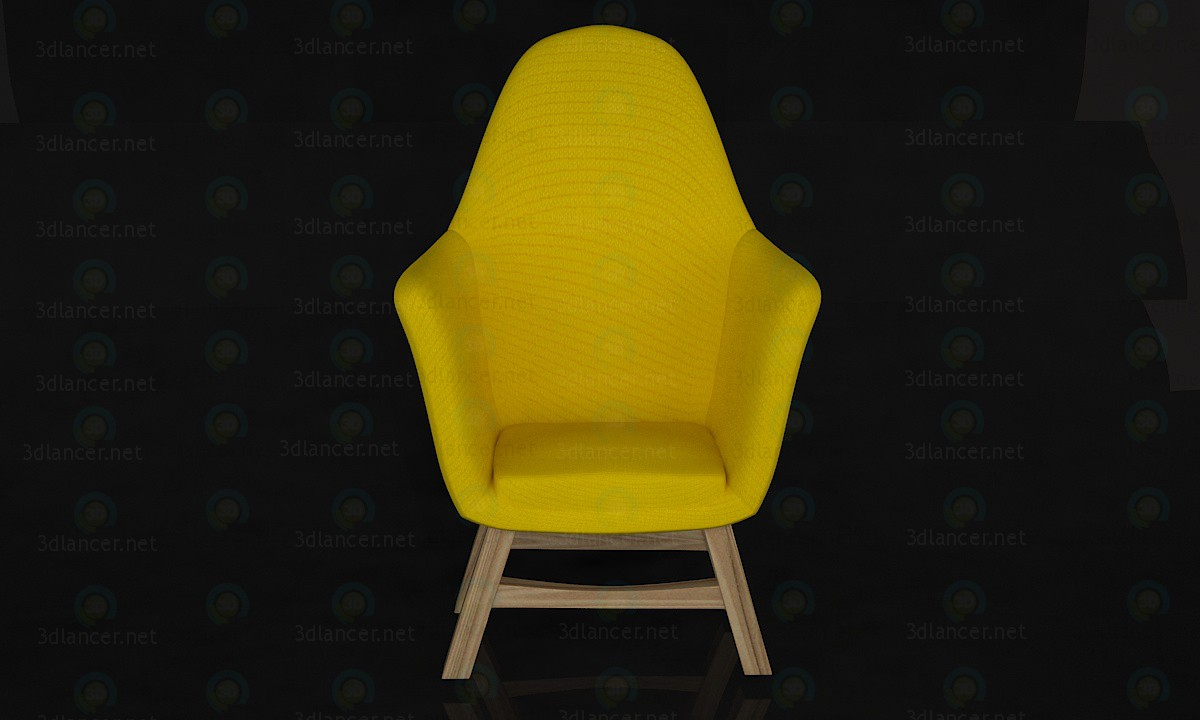 3d model Yellow chair - preview