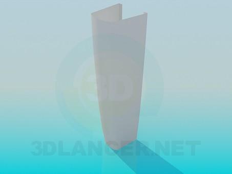 3d модель Ножка под умывальник – превью