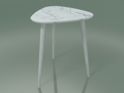 Side table (244, Marble, White)