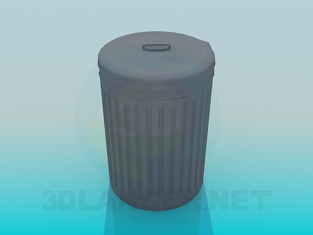 3d modeling Garbage pail model free download