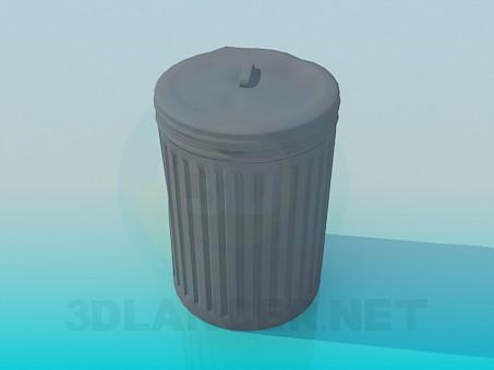 modelo 3D Cubo de basura - escuchar