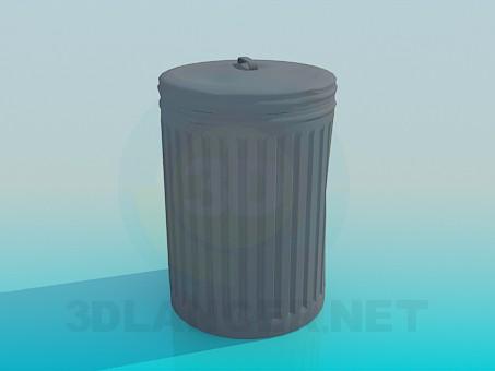 3d model Garbage pail - preview