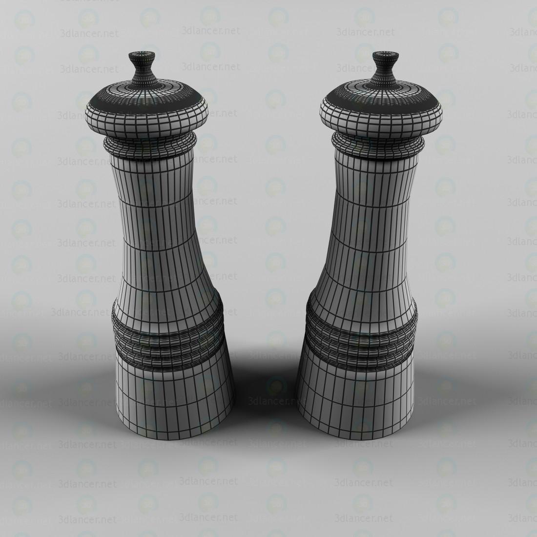 modelo 3D Los recipientes para especias - escuchar