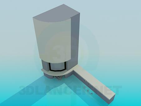 modelo 3D Chimenea con luz de fondo - escuchar
