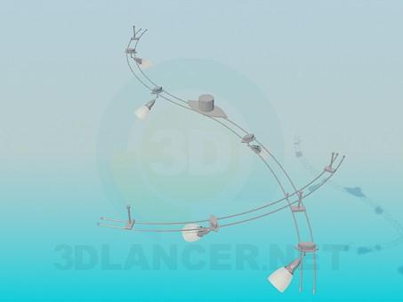 modelo 3D Kit de suspensión de luminaria - escuchar