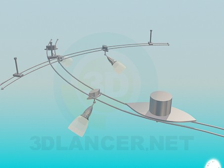 3d model luminaire suspension kit download for free for Suspension luminaire 3 lampes