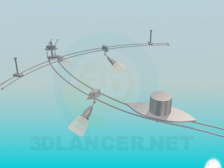 3d model Luminaire suspension kit - preview
