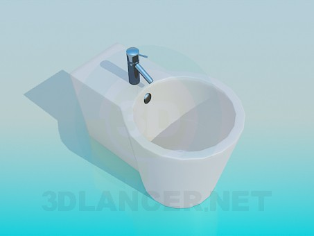 3d model Bidet with a faucet - preview