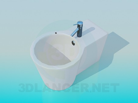 3d model Bidet with a faucet - preview