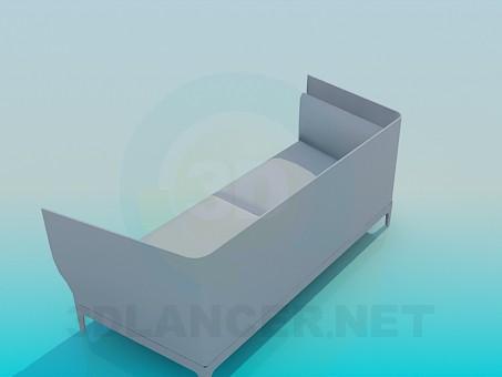 modelo 3D Cómodo sofá - escuchar