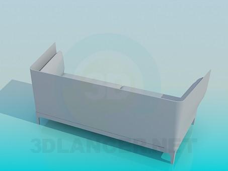 3d модель Удобный диван – превью