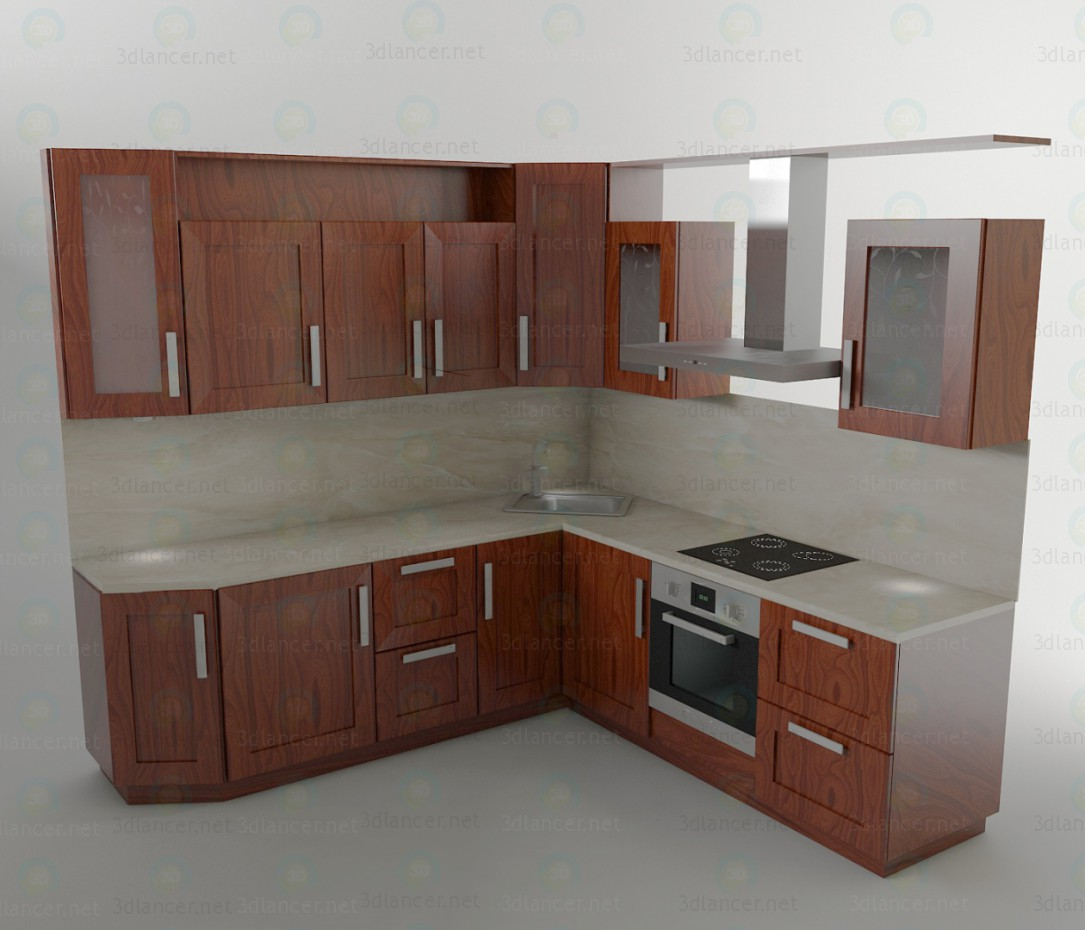 Kitchen set 3d model kitchen set for Harga kitchen set sederhana
