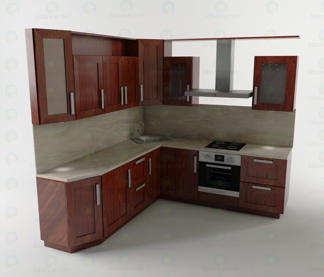 3d model kitchen set for Kitchenette sets