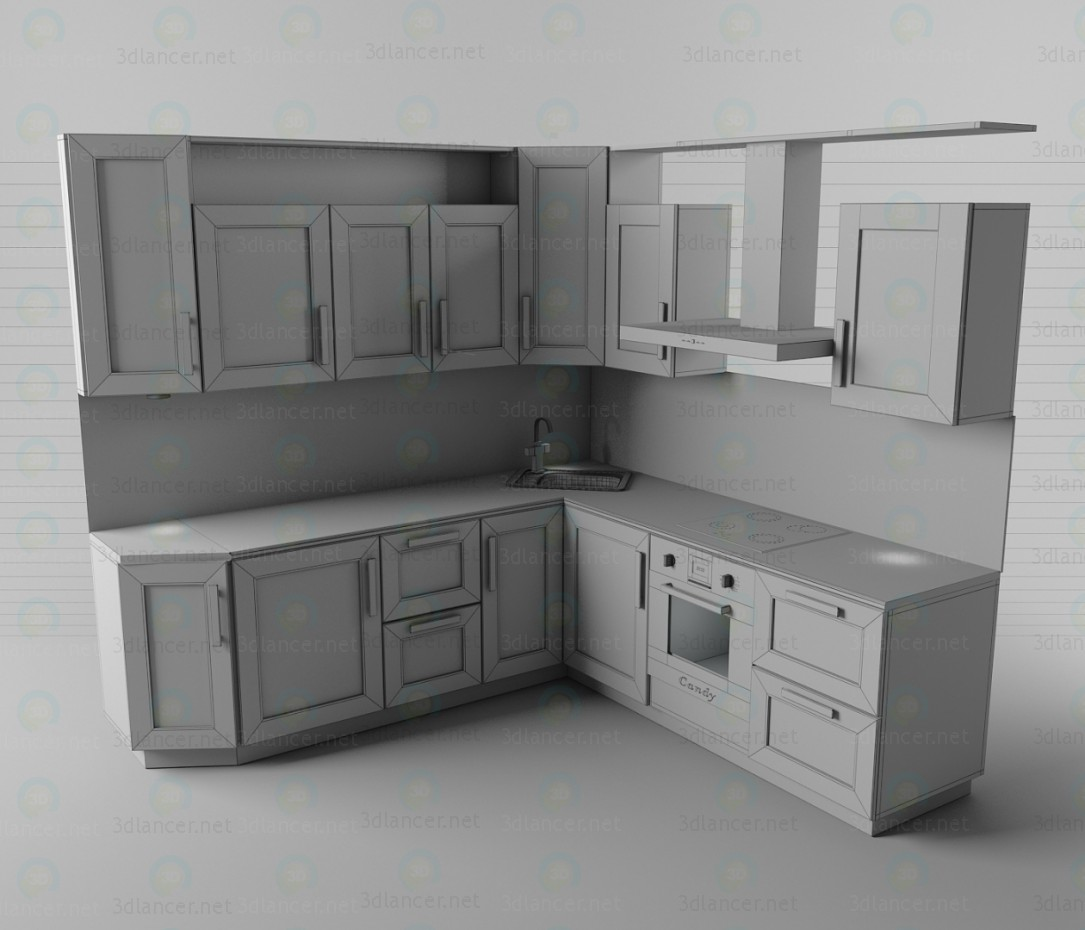 3d Kitchen set model buy - render