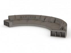 Sofá semicircular Circo (604)