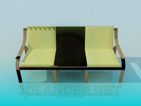 descarga gratuita de 3D modelado modelo Banco con asiento suave