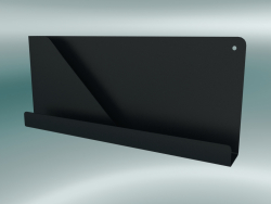 Ripiano ripiegato (51x22 cm, nero)